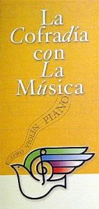 Folleto de la programación de La Cofradía con la Música
